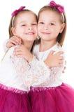 Retrato de muchachas gemelas Imágenes de archivo libres de regalías