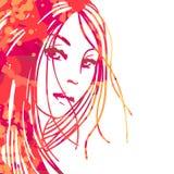 Retrato de mujeres hermosas stock de ilustración