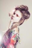 Retrato de mujeres jovenes atractivas en estilo asiático Fotografía de archivo libre de regalías