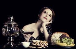 Retrato de mujeres rusas ricas hermosas. imagen de archivo libre de regalías