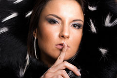 Retrato de mulheres glamoroso Imagens de Stock