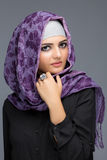 Retrato de mulheres muçulmanas no hijab Imagem de Stock