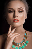 Retrato de mulheres novas bonitas Imagens de Stock Royalty Free