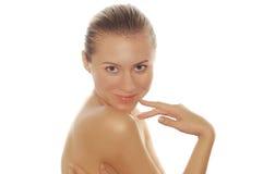 Retrato de mulheres novas 'sexy' com face bonita imagens de stock
