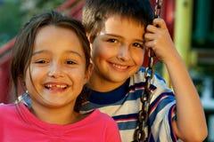 Retrato de niños de risa fotos de archivo libres de regalías