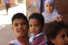 Retrato de niños egipcios en acontecimiento chairty en Giza Fotografía de archivo libre de regalías