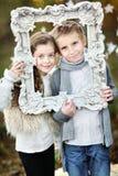 Retrato de niños pequeños y de muchachas fotografía de archivo libre de regalías