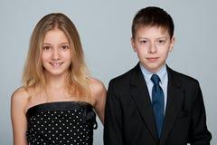 Retrato de niños sonrientes Foto de archivo libre de regalías
