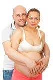 Retrato de pais futuros felizes Imagem de Stock
