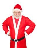 Retrato de Papá Noel enojado Imágenes de archivo libres de regalías