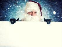 Retrato de Papai Noel Fotografia de Stock