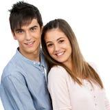 Retrato de pares adolescentes lindos. Fotos de archivo