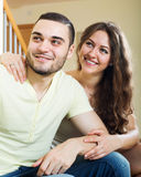 Retrato de pares adultos novos Fotografia de Stock