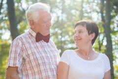Retrato de pares amados pessoas idosas Fotografia de Stock