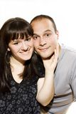 Retrato de pares bonitos Imagens de Stock
