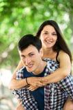 Retrato de pares cariñosos alegres Imagen de archivo libre de regalías