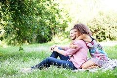 Retrato de pares felizes imagem de stock