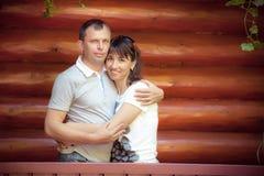 Retrato de pares felizes Imagens de Stock