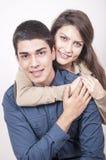 Retrato de pares felizes novos Fotografia de Stock Royalty Free