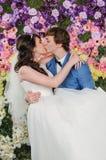 Retrato de pares hermosos Alineada de boda Accesorios de la boda Fotos de archivo