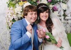 Retrato de pares hermosos Alineada de boda Accesorios de la boda Imagen de archivo