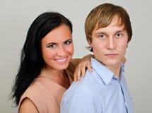 Retrato de pares loving felizes foto de stock