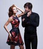 Retrato de pares novos luxuosos no amor Fotos de Stock Royalty Free