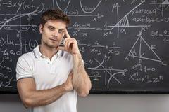Retrato de pensamento do professor imagens de stock