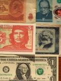 retrato de políticos famosos em cédulas Fotografia de Stock Royalty Free