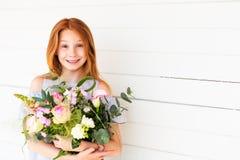 Retrato de pouca menina da criança de 10 anos Fotografia de Stock