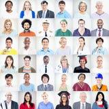 Retrato de povos misturados multi-étnicos das ocupações Imagem de Stock Royalty Free