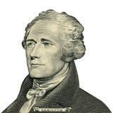 Retrato de presidente Alexander Hamilton (trayectoria de recortes) Foto de archivo