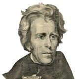 Retrato de presidente Andrew Jackson. (Trayectoria de recortes) Fotos de archivo libres de regalías