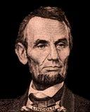 Retrato de primer presidente George Washington de los E S Presidente Abraham Lincoln fotos de archivo libres de regalías