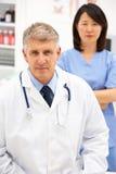 Retrato de profesionales médicos Imagen de archivo libre de regalías
