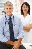 Retrato de profesionales médicos Imágenes de archivo libres de regalías