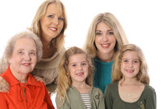 Retrato de quatro gerações Fotos de Stock Royalty Free
