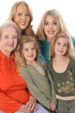 Retrato de quatro gerações Imagem de Stock