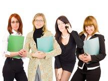 Retrato de quatro mulheres de negócio imagens de stock