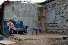 Retrato de refugiados Imagen de archivo