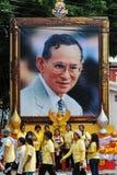 Retrato de rey tailandés Bhumibol Adulyadej Fotos de archivo libres de regalías