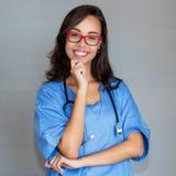 Retrato de rir a enfermeira francesa foto de stock royalty free