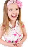 Retrato de rir a menina bonito isolada imagem de stock royalty free