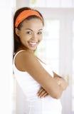 Retrato de rir a mulher étnica Imagem de Stock Royalty Free