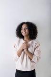 Retrato de rir a mulher nova imagem de stock royalty free