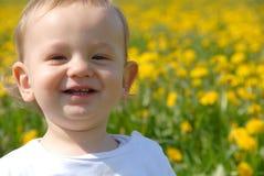 Retrato de risa divertido del niño Fotografía de archivo libre de regalías