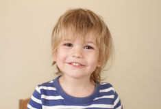 Retrato de risa feliz del niño Imágenes de archivo libres de regalías