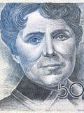 Retrato de Rosalia de Castro imagen de archivo libre de regalías