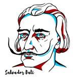 Retrato de Salvador Dali ilustração royalty free