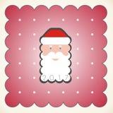 Retrato de Santa Claus en un casquillo rojo Imágenes de archivo libres de regalías